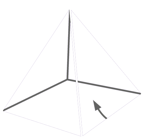 Simplified and primitive 4-sided pyramid, not counting the base. We are getting rid of cash for the unrepresented bottom 99%.