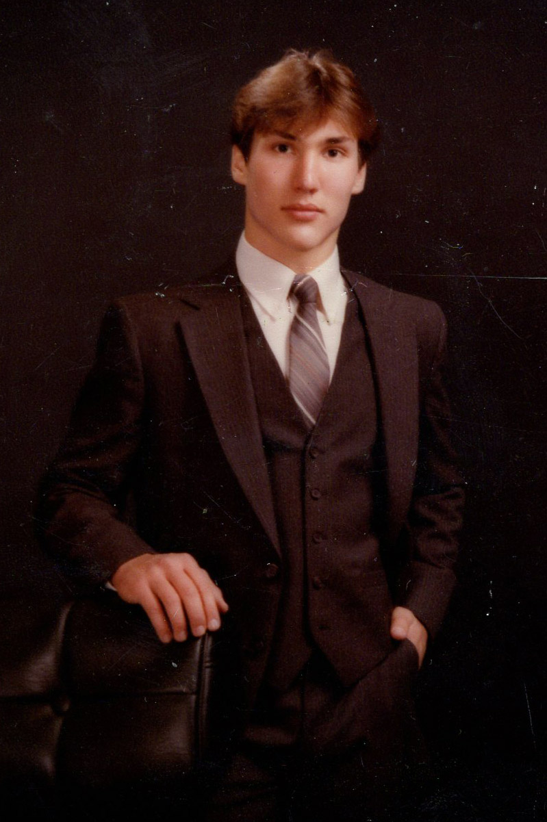 17-year-old Ken Meyering in a 3 piece suit. My father dropped out of high school and joined the Marine Corp at age 17.